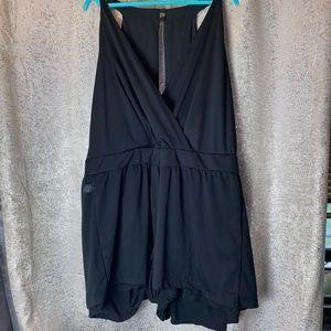Toxik3 Jumpsuit Shorts zipper Romper Black size 3